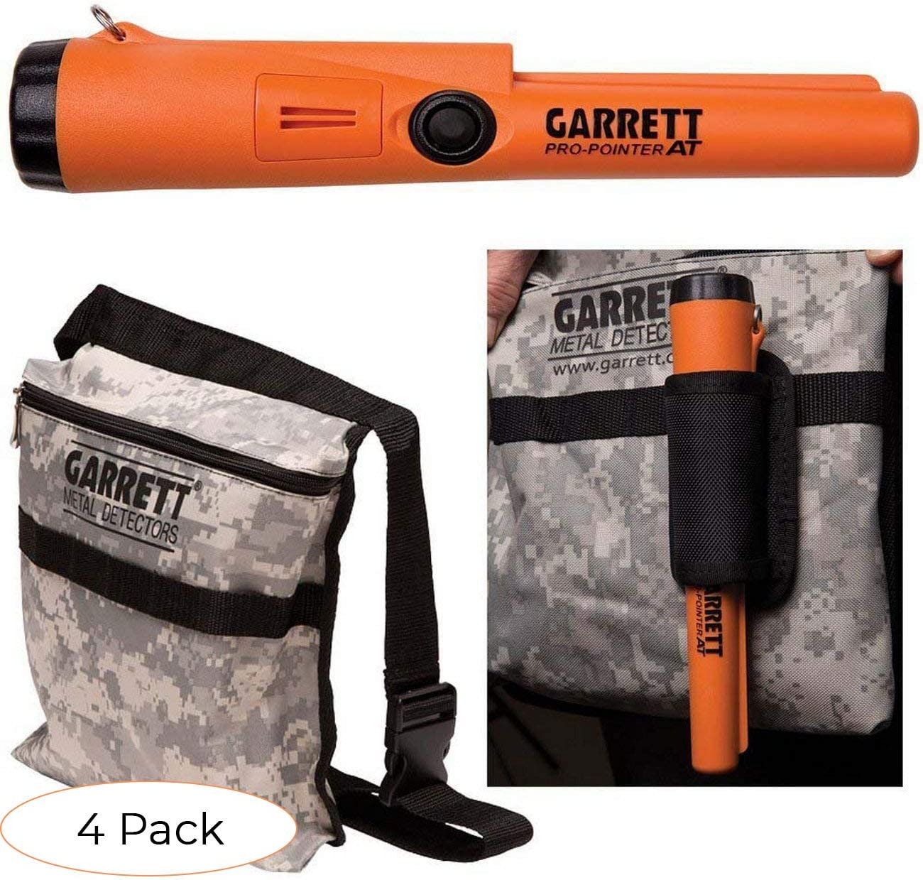 Garrett Pro Pointer at Metal Detector Waterproof ProPointer Camo Pouch Pack 4