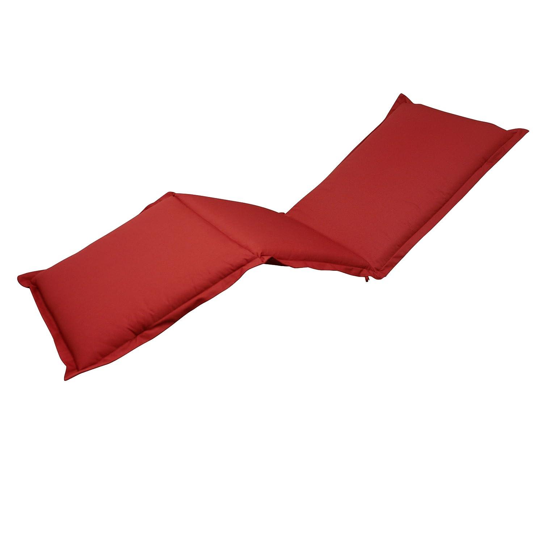 indoba® IND-70435-AUSL - Serie Premium - Auflage Gartenliege - extra dick, Rot