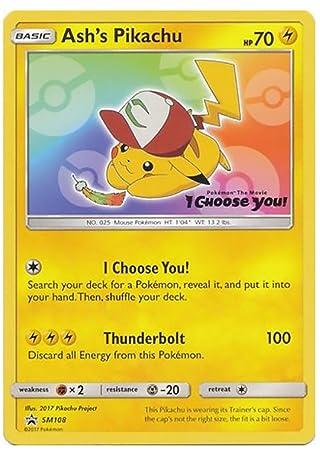 Ashs Pikachu Card Ash S Pikachu Pokemon Card Movie Promo Sm108 I
