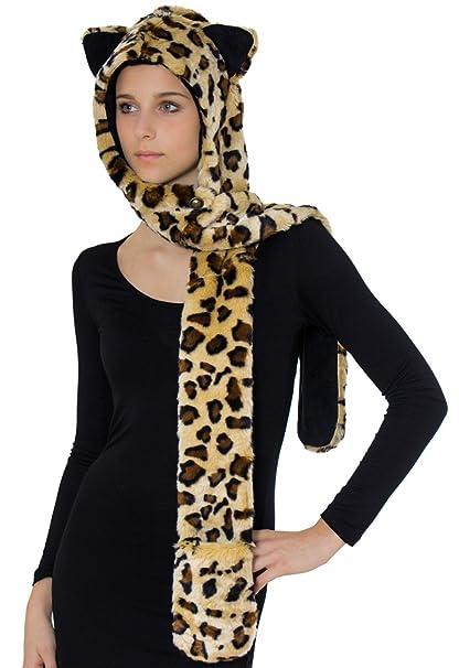 5db787abd2dd CASPAR Fashion - Gorro de punto - para hombre leopardo: Amazon.es ...