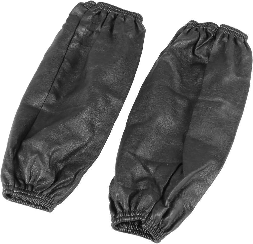 Paar schwarz wasserdicht elastisch aermel aermelschoner aermelschutz aer Z8Y9 1X