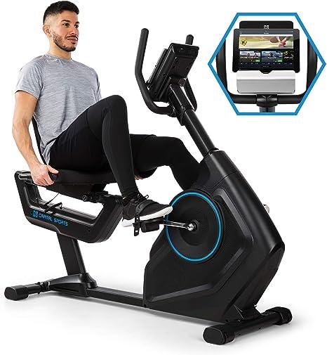 CapitalSports EVO Deluxe Bicicleta estática - Sillín Ajustable, Compatible con Kinomap, Bluetooth, Volante de inercia de 20 kg, 32 Niveles de Resistencia, Pulsómetro, Ordenador, Negro: Amazon.es: Deportes y aire libre