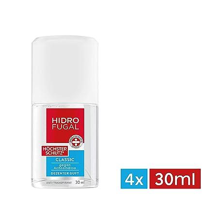 Hidrofugal protección antitranspirante clásico atomizador más alta, paquete de 4 (4 x 30 ml