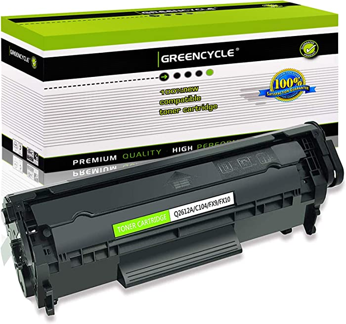 GREENCYCLE Toner Cartridge Replacement Compatible for HP 12A Q2612A (Black) Laserjet 1010 1012 1018 1020 Printer