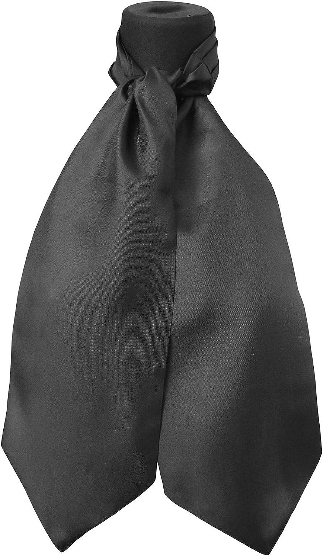 tessago Ascot classico da Uomo 100/% Seta colore nero tre pieghe misura cm 140 Made in Italy