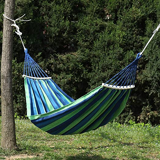 ugKIL Brazilian Single Double Hanging Hammock for Patio Porch Garden Backyard Lounging Outdoor and Indoor