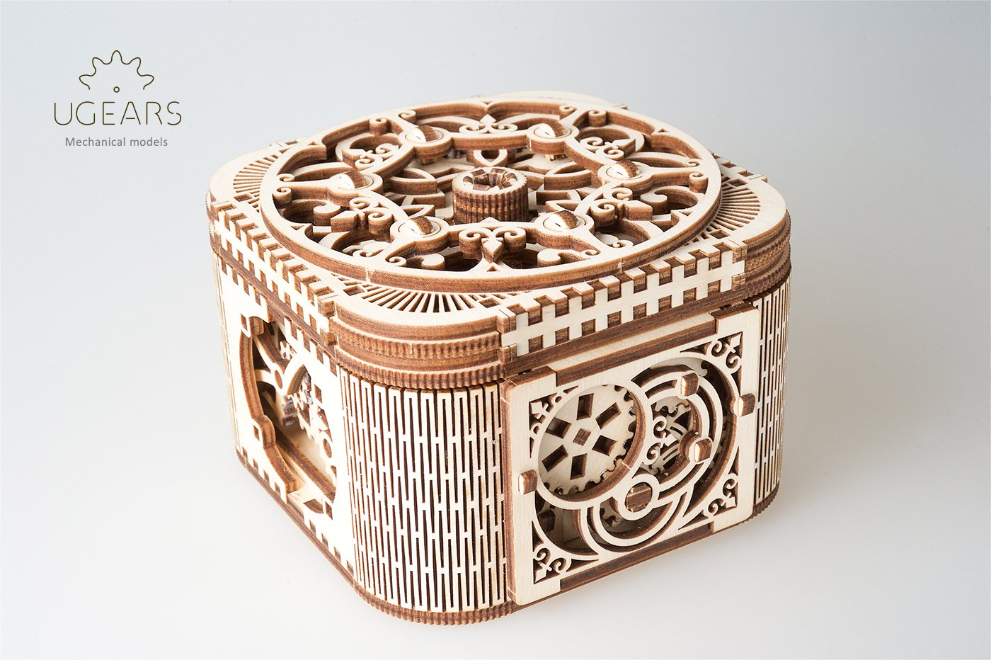 Ugears, 70031,scatola portagioie/cofanetto, kit in legno 3D senza parti incollate