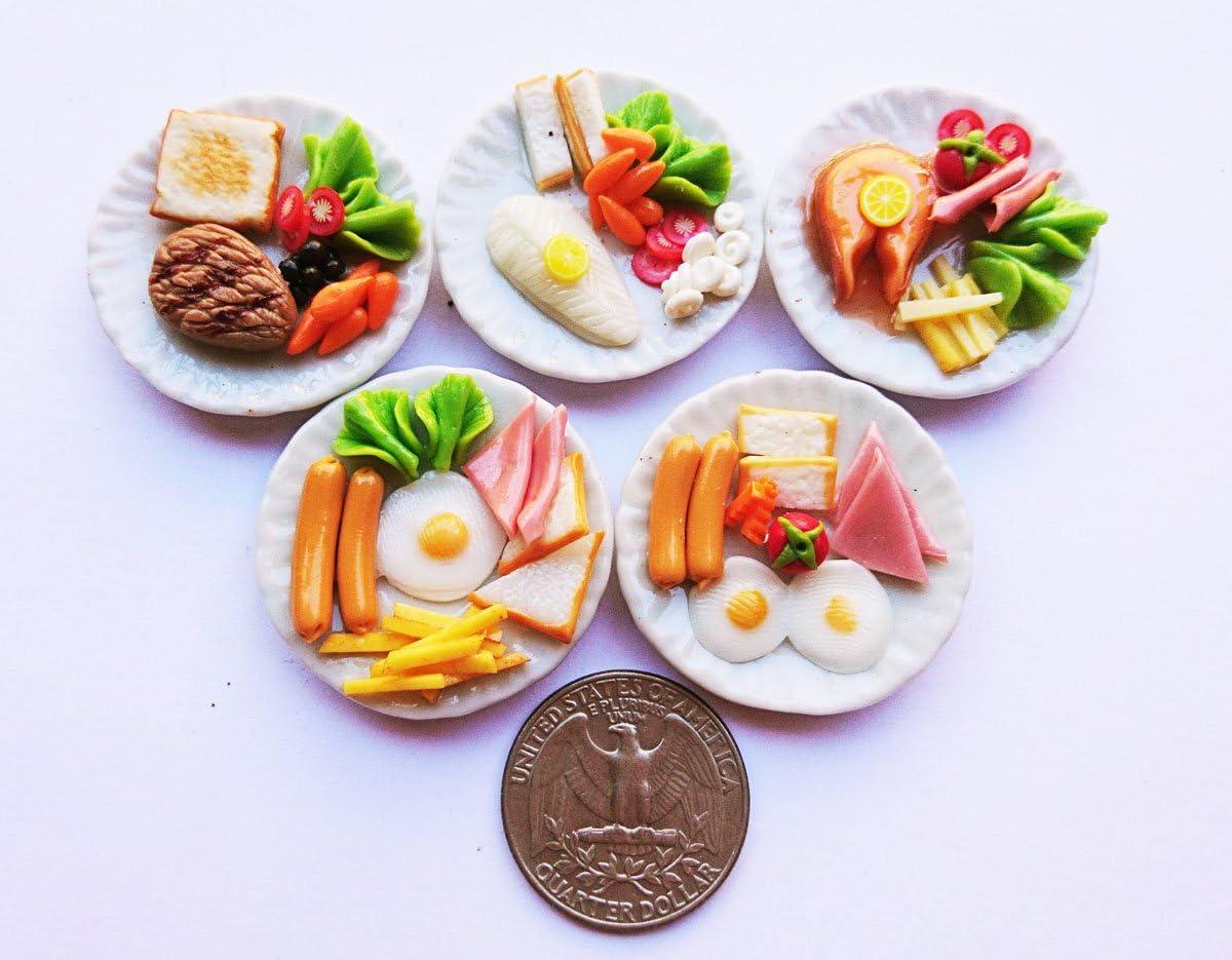 6Pcs Dollhouse Miniature eggs and milk Toys Doll Food Kitchen Accessories HFBVP