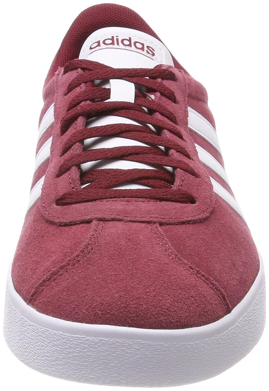 adidas VL Court 2.0, Scarpe da Fitness Uomo, Rosso (Buruni/Ftwbla/Negbas 000), 47 1/3 EU