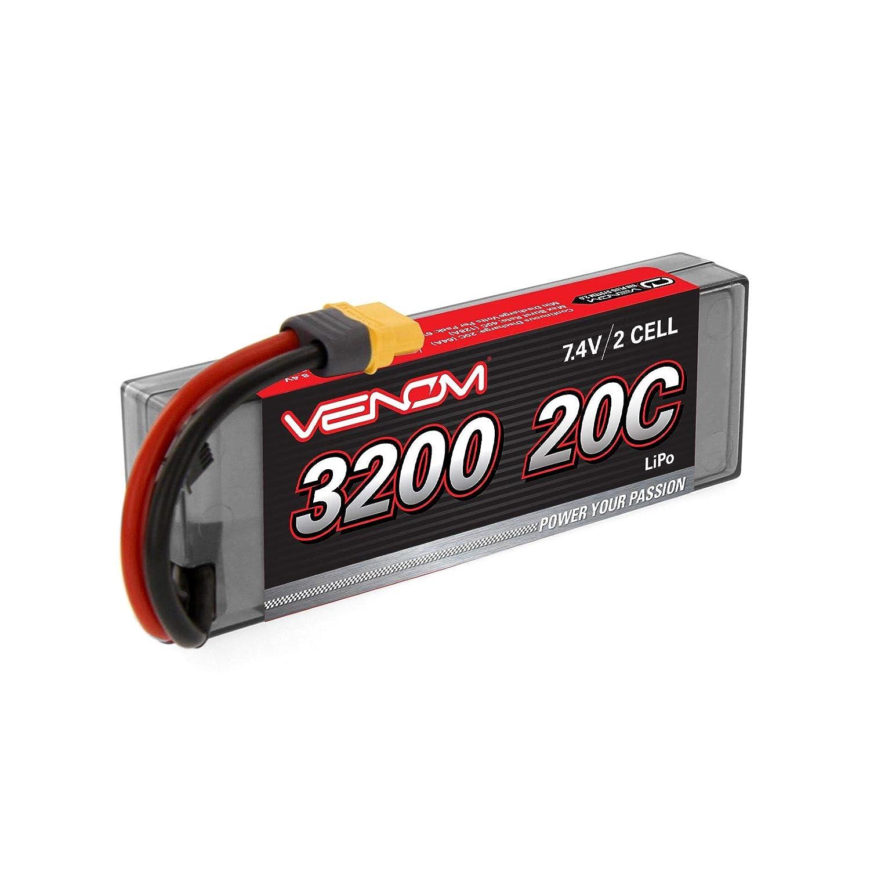 Amazon.com: Venom 20C 2S 3200mAh 7.4V Hard Case LiPo Battery with Universal 2.0 Plug (Traxxas / Deans / EC3) x2 Packs: Toys & Games