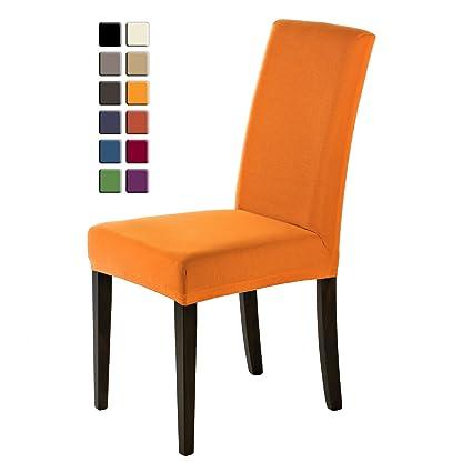 SCHEFFLER-HOME Sofie Fundas de sillas 2 piezas, estirable Cubiertas de la sillas, Spandex Protecdor moderna slipcover, Cubierta de la silla de la ...
