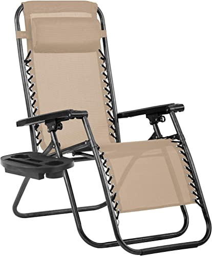 Her Majesty Patio Chaise Lounge Chair Mesh Back Folding Patio Chairs Zero Gravity Chair