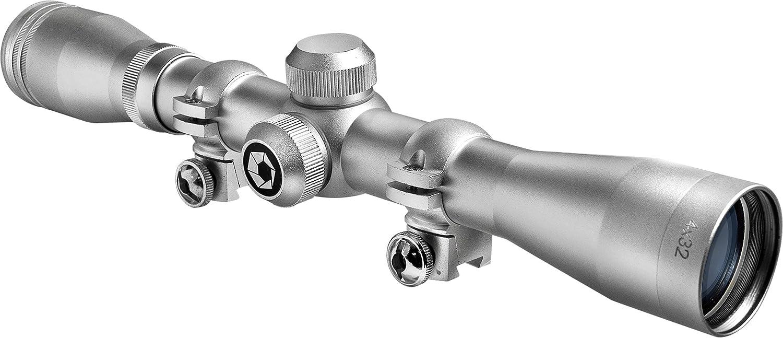 BARSKA 4x32 Plinker-22 Silver Scope w/ 3/8-Inch Rings AC10040