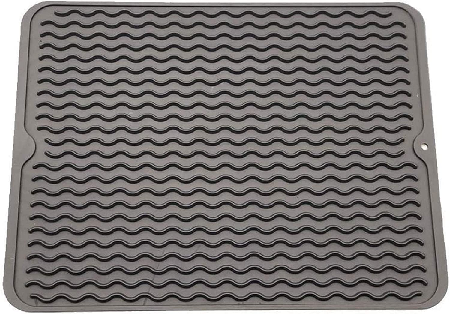 Silicone Dish Drying Mats for Kitchen Counter, Heat Resistant Mat, Tableware Bowl Mat, Non Slip Dish Mats Can be Rolled UP-16'' X 12''