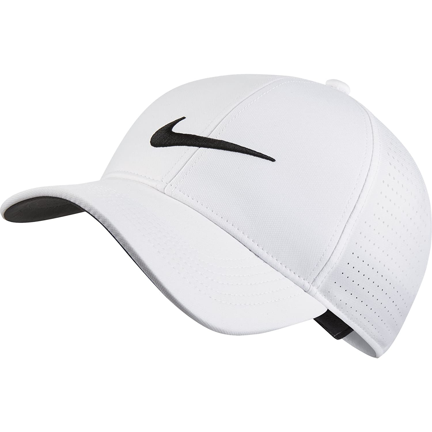 f9670c29 Amazon.com: NIKE Unisex AeroBill Legacy 91 Perforated Golf Cap, Black/Anthracite/White,  One Size: Clothing