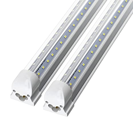 8ft LED Shop Light Fixture, 72w 7200 Lumens 6000K Cooler Light ...