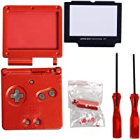 Timorn Full Parts Housing Shell Pack Replacement for GBA SP Gameboy Advance SP (Wine Red Pack)