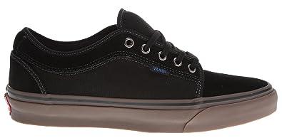 a9af81de8a2708 Image Unavailable. Image not available for. Color  Vans Chukka Low Skate Shoes  Black Gum Blue ...
