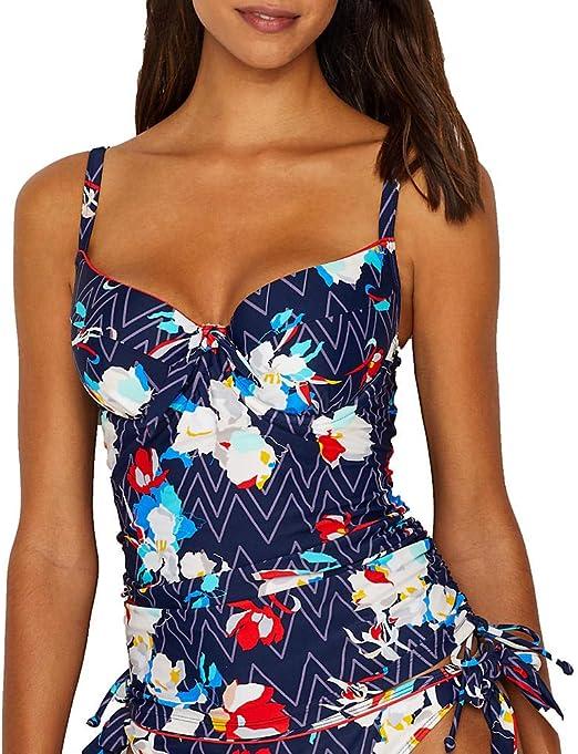 Panache Milano Tankini Top Underwired Padded SW1151 ZigZag Floral Swimwear