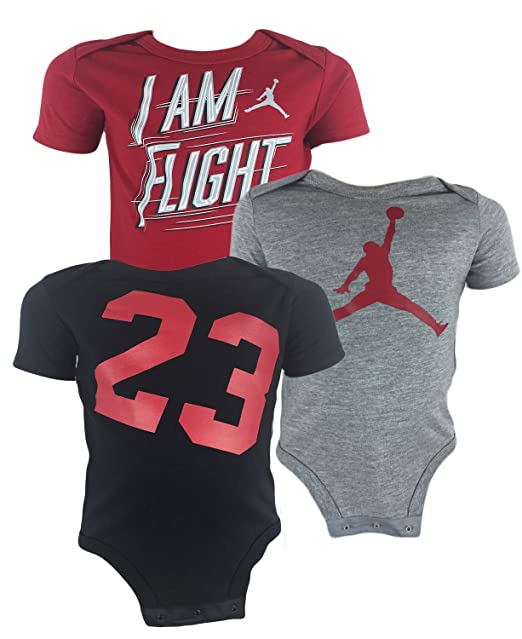 cece7d893 Image Unavailable. Image not available for. Color: Boys: Air Jordan Infant  Baby Bodysuit Set ...