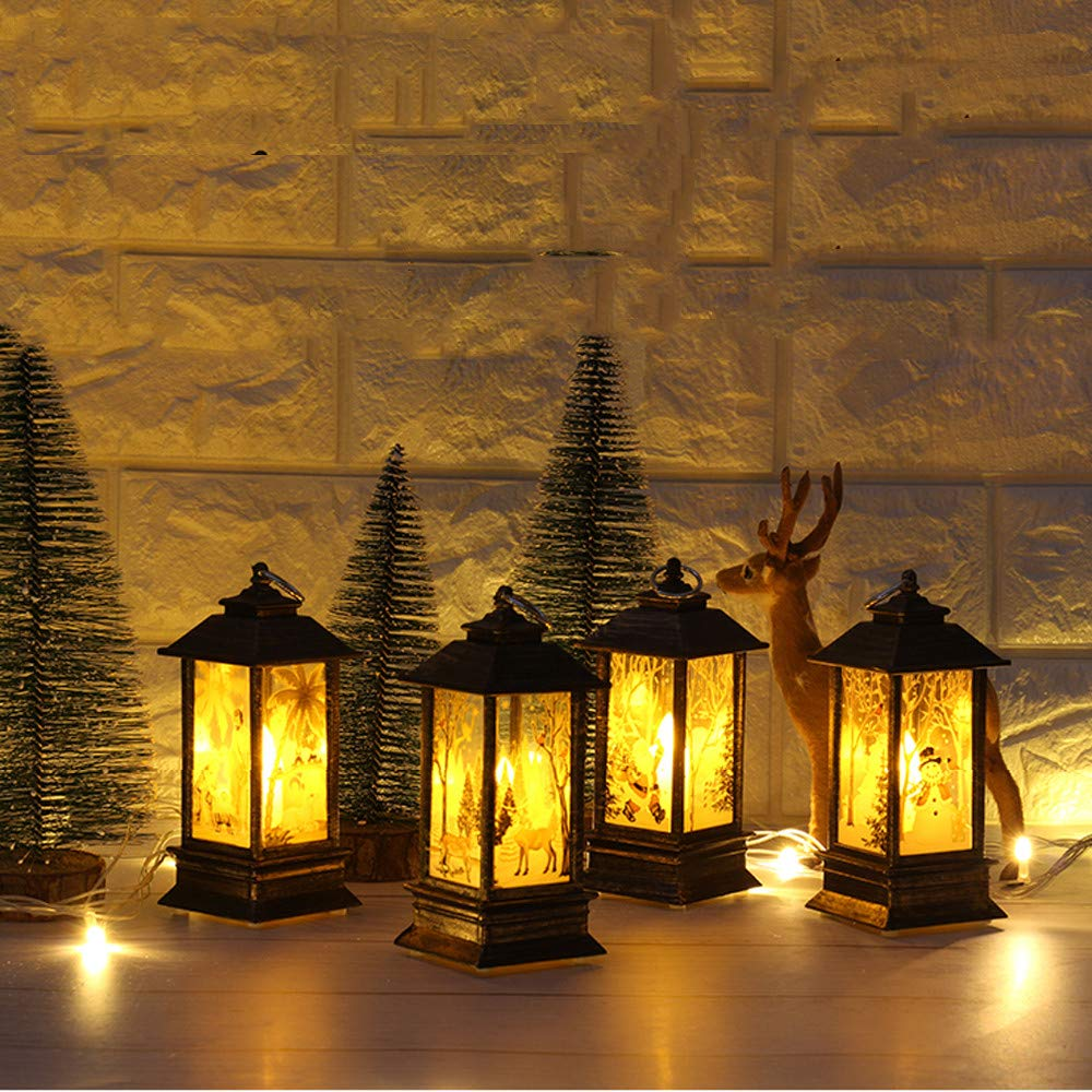 Longay 1 pcs Christmas Candle with LED Tea Light Candles for Christmas Decoration Part (D) by Longay (Image #4)