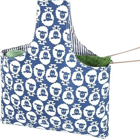 Teamoy Bolso de Ovillos Bolsa en Mano de Tejer Bolsos para Agujas Mochila de Crochet (Grande, Alpaca): Amazon.es: Hogar