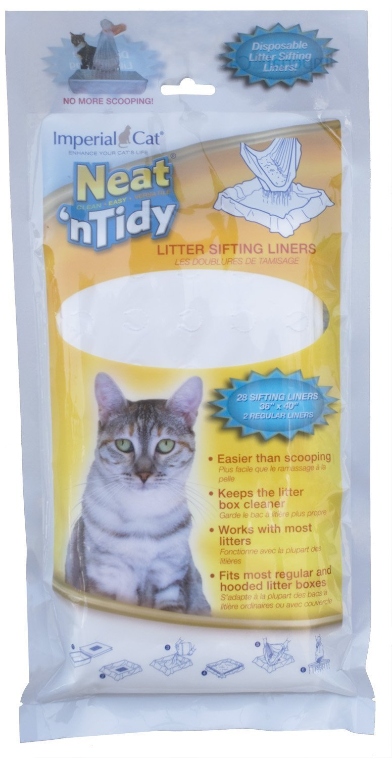 Imperial Cat Neat and Tidy,28 Litter Sifting Liners, 36'' x 40'', 2 Regular liners