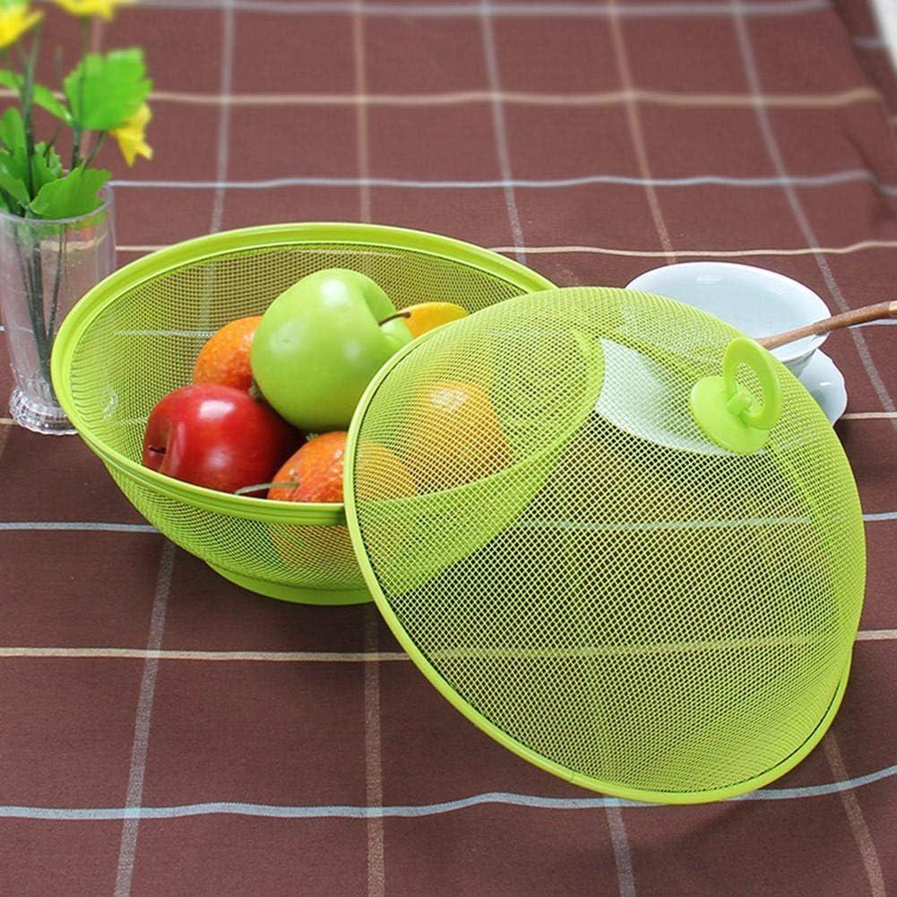 27x24cm 10.63x9.45in D/écoration de table /à manger Bo/îte de rangement Assiette de fruits pour /éviter les mouches et les insectes Corbeille de fruits avec couvercle
