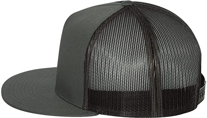Flexfit Yupoong Men s Five Panel Classic Trucker Cap One Size Charcoal 4a658c632aa