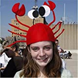 LnLyin Fun Cute Upmarket Red Crab Costume Hat Fits Child or Adult