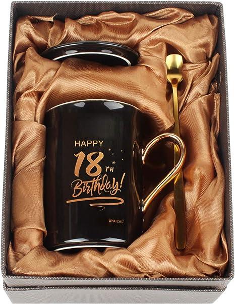 Happy 18th Birthday Gift Coffee Mug Set
