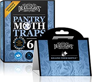 Dr. Killigan's Premium Pantry Moth Traps with Pheromone Attractant | Safe, Non-Toxic with No Insecticides | Organic (6, Blue)
