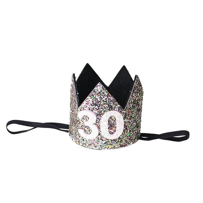 Amazon.com: Kirei Sui adulto 30 cumpleaños con purpurina ...