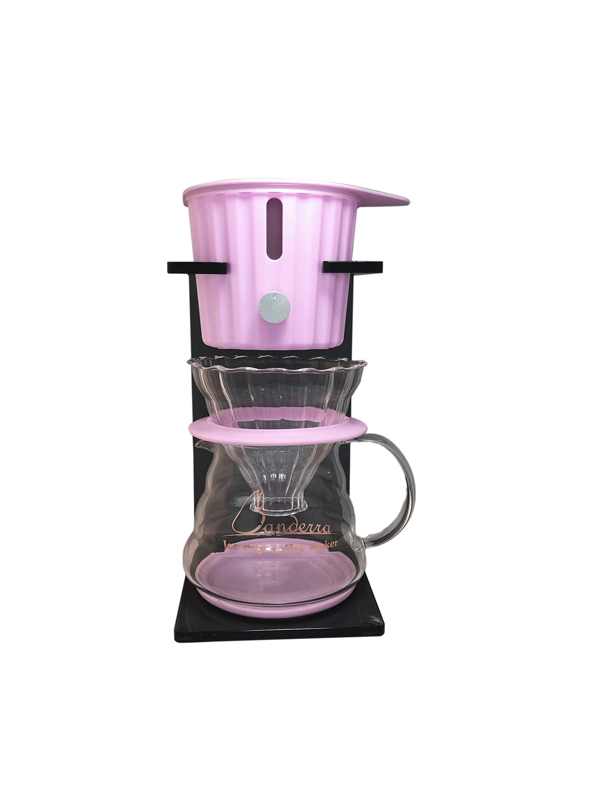 Banderra Ice Coffee Dripper Ice Drip Coffee Maker Cold Brew Iced Coffee Machine (360ml) 5V/2A USB (Pink)