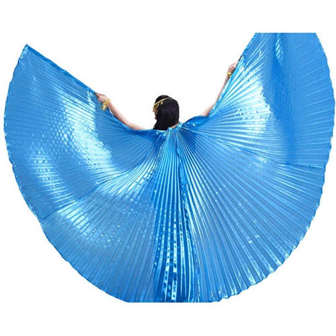 Azul Calcifer Alas de /ángel Egipcio para Danza del Vientre con 2 Palos telesc/ópicos