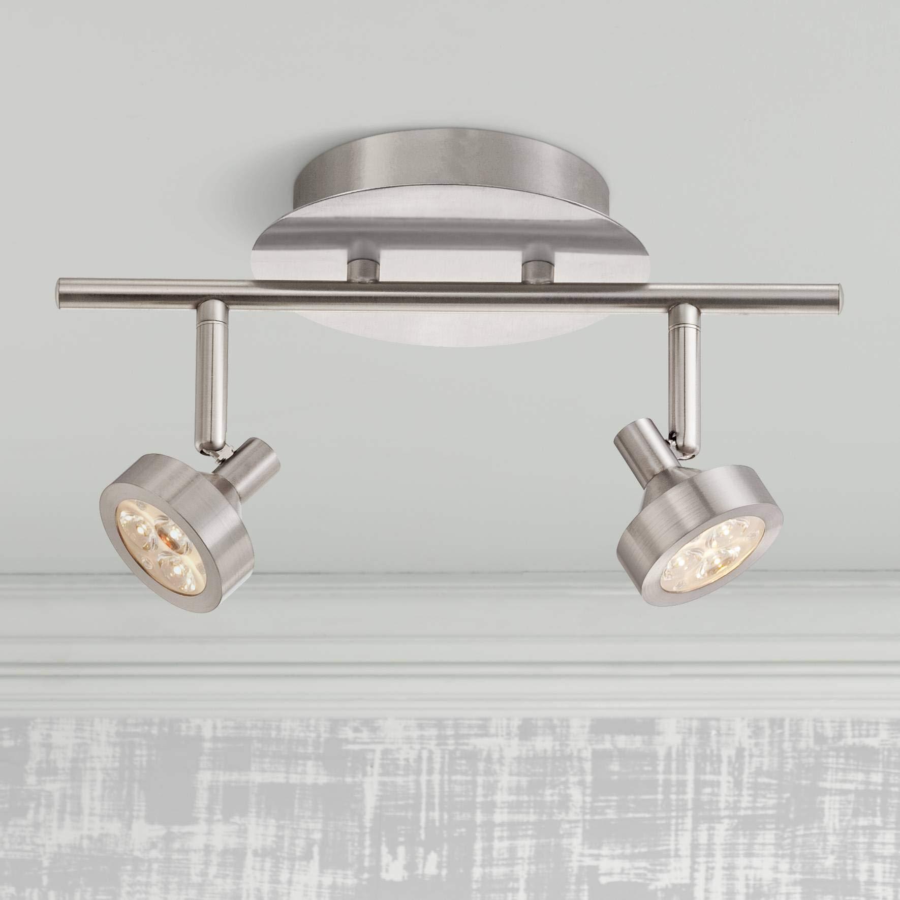 Tilden 2-Light LED Brushed Nickel Track Fixture by Pro-Track - Pro Track