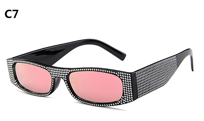 Amazon.com: Gafas de sol cuadradas pequeñas para mujer con ...