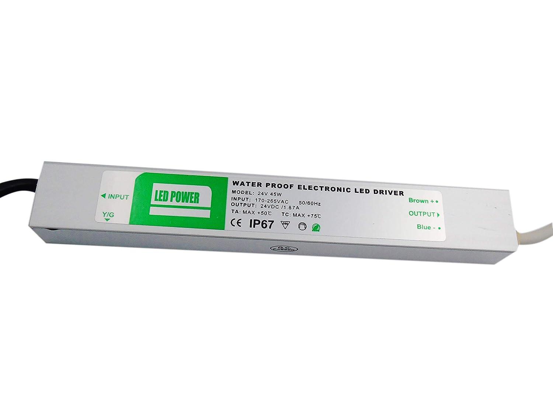 King Led Transformateur ou source d'alimentation Bandes LED IP6745W 24V LED Power Waterproof