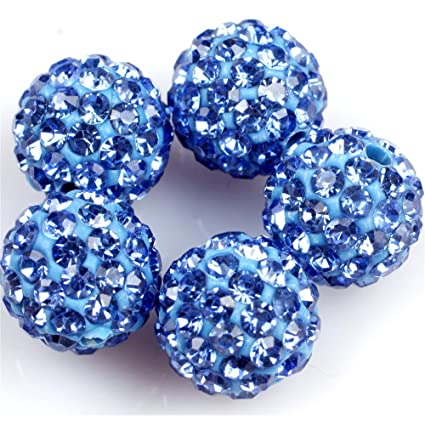 TM 10mm Box Set LolliBeads 100pcs 10 Color Mix Lot Top Quality Crystal Rhinestones Pave Clay Spacer Ball Beads