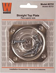 Waddell Straight Top Hardware Plate,