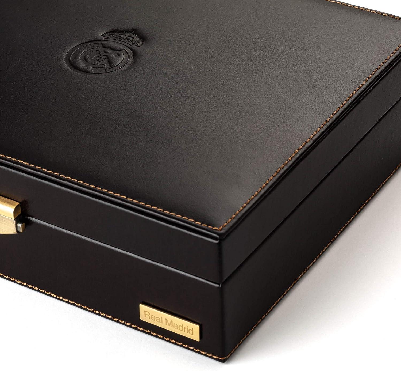 RMJ-80002B Ecrin /à 10 rangs pour montres et bijoux construit /à la main. Real Madrid