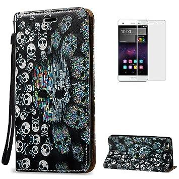 KaseHome Compatible For Huawei P8 Lite Wallet Funda PU Leather Cuero Suave Piel Caso Función De Soporte Billetera con Tapa Libro Tarjetas del ...