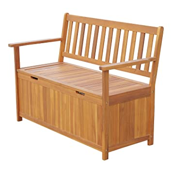 Outsunny 47u0026quot; Wooden Outdoor Storage Bench with Removable Waterproof Lining  sc 1 st  Amazon.com & Amazon.com: Outsunny 47