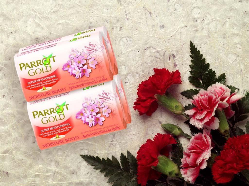 B&G Parrot Gold Jabón Rosa Hidratación Boost 80 G. Pack 4: Amazon.es: Hogar