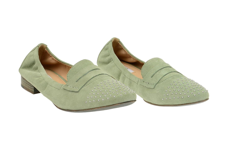 Geox Alix A Slipper Damen Schuhe in sage grün Velour D32T1A 5wTTpa