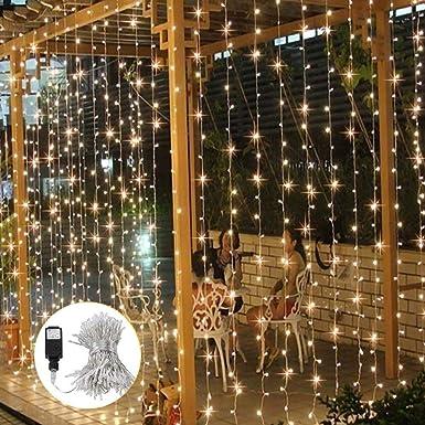 6M 30LED Solar Lichterkette Weihnachtsbaumkette Außen Party xmas Laterne Lampe