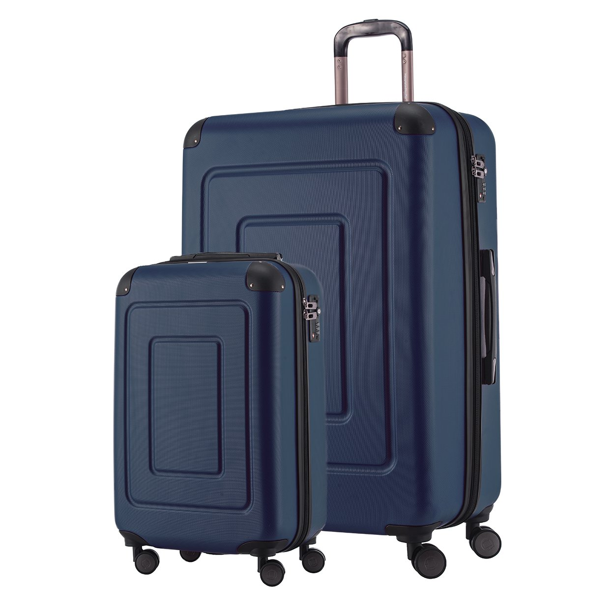 Happy Trolley Koffer-Set Lugano, 55+75 cm, 44L+123L, Grü n HT1601-AG-44+123