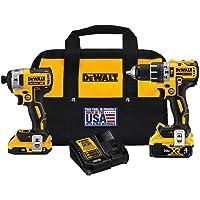 DeWalt 20V MAX XR Cordless Brushless 2 tool Hammer Drill and Impact Driver Kit