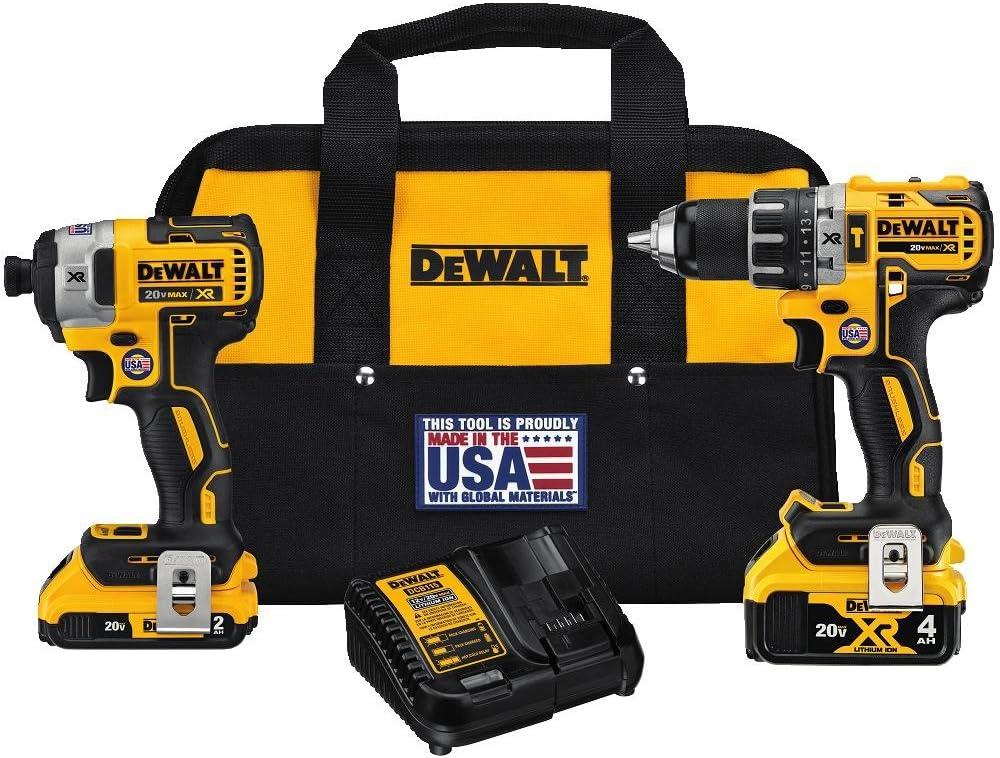 *NEW* DEWALT DCK283D2 20V XR Brushless Cordless Drill Impact Driver Combo Kit