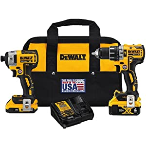 DEWALT DCK287D1M1 20V Cordless Hammerdrill and Impact Driver Combo Kit